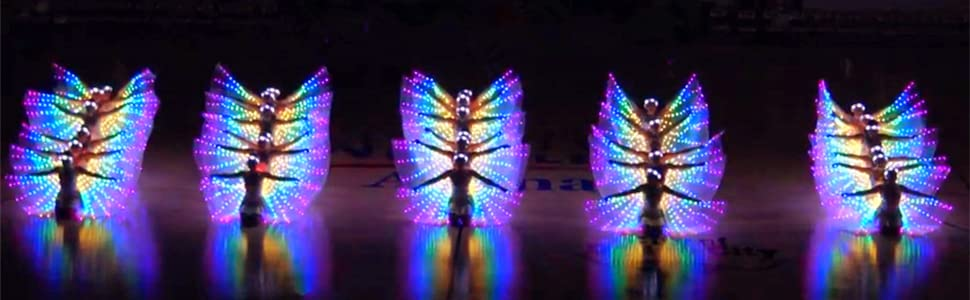 Adult Belly Dance LED Wings 8 models LED Lights Egyptian Parade wings Costumes