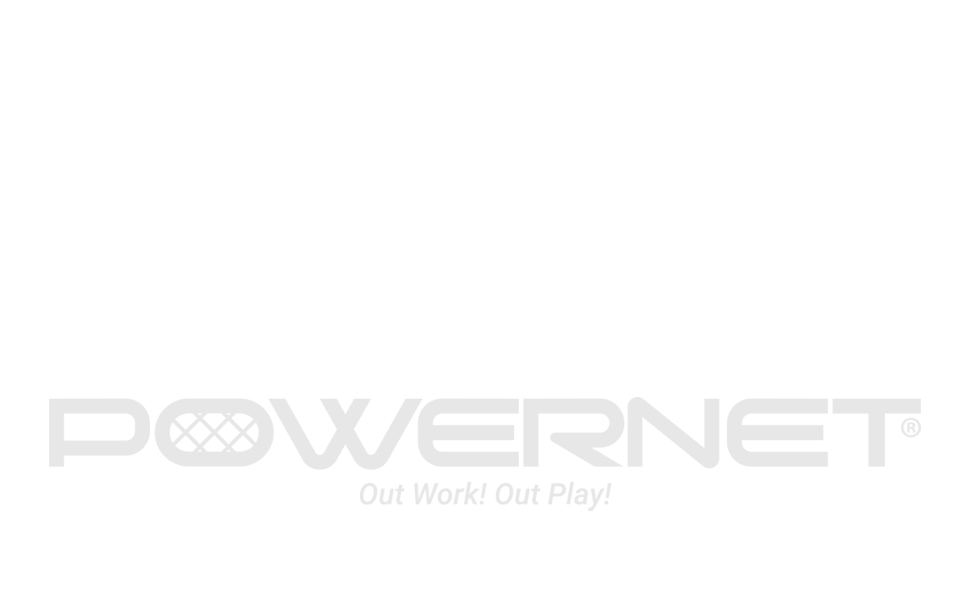 POWERNET LOGO OUT WORK! OUT PLAY!