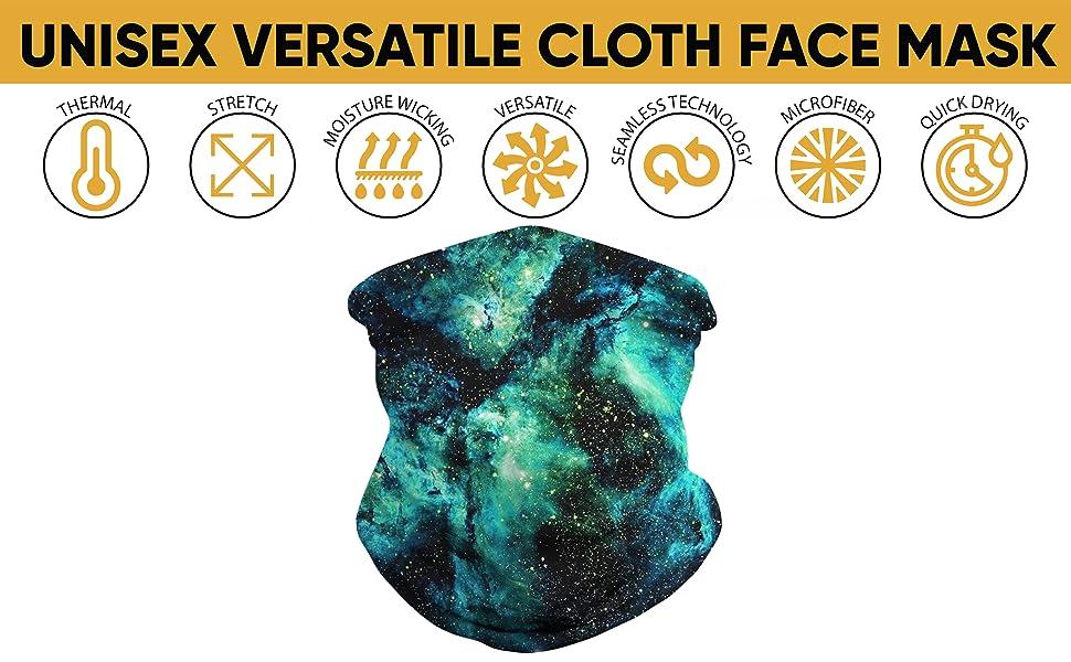 balaclava Bandana face mask sport protector lightweight germ summer thin benefits kid wrap cooling