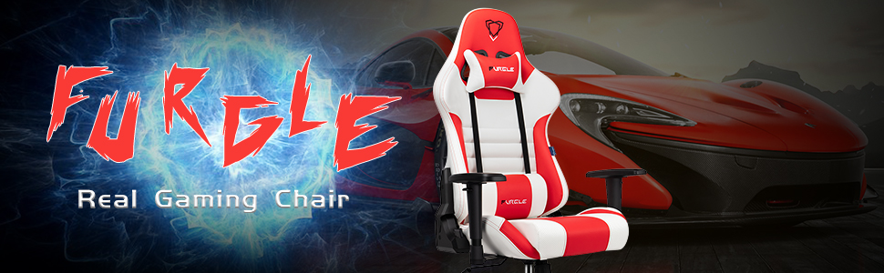furgle gaming chair  【New Update】 Furgle Gaming Chair Racing Style High-Back Office Chair w/PU Leather and Adjustable Armrests Executive Ergonomic Swivel Video Game Chairs with Rocking Mode & Headrest and Lumbar Support 387f29e2 e68e 4bf7 8266 c3d85984e637