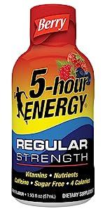 energy shot berry regular strength drink