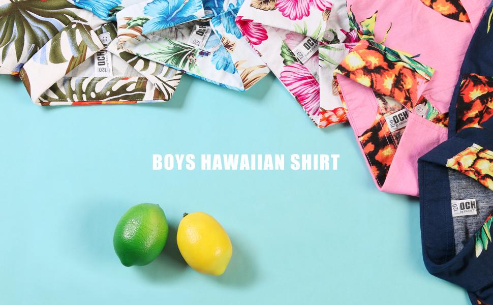 boys hawaiian shirt, kids beach shirt, holiday shirt,floral shirt, print shirt, pineapple shirt