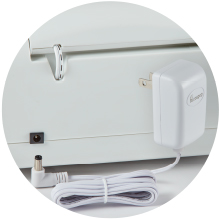 NEW! Detachable cord works with USA and International power voltages (100v-240v).