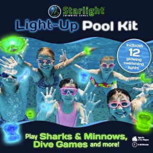 starlight swimming games, swimming game, pool toy, light up game