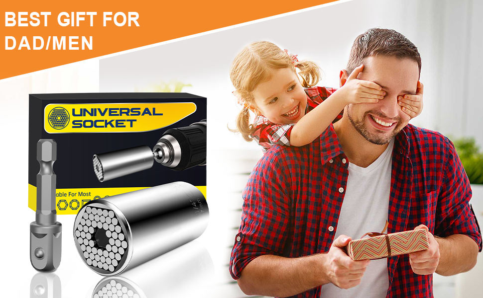 Universal Socket Best Dad Gifts - Gifts for Men Multi Tools Socket Wrench, Gadgets Gifts for Men
