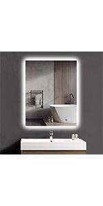 28x36 inch backlit mirror