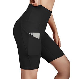 "ODODOS Side Pocket High Waist 5"" Yoga Shorts"