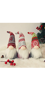 Christmas Plush Gnome Santa, Set of 3
