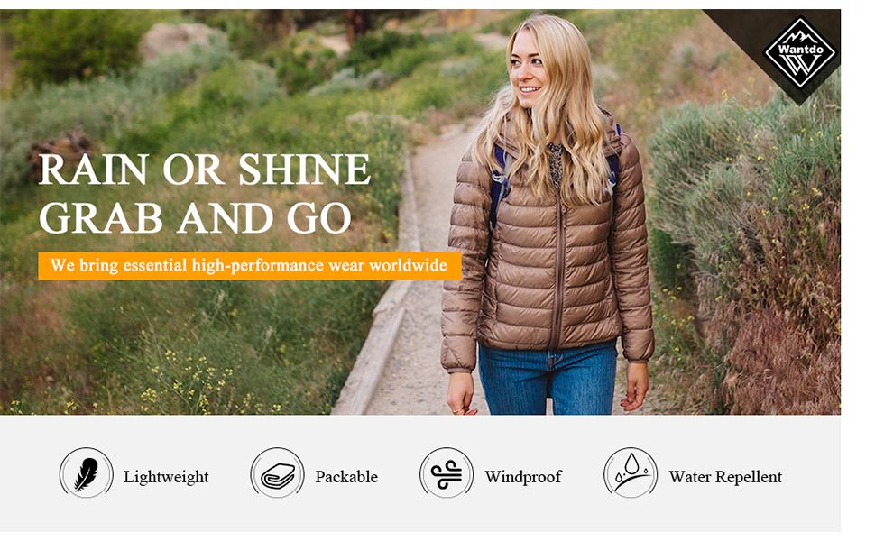Women's Packable Down Jacket Short
