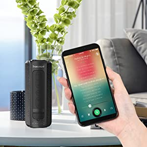 Tronsmart T6 Plus Cassa Bluetooth 40W, Altoparlante Waterproof IPX6 con Powerbank, Suono Stereo TWS, 15 Ore di Riproduzione, Effetti Tri-Bass, Speaker con Bluetooth 5.0 e Chiamata Vivavoce
