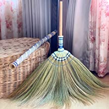 wedding brooms decorate natural bamboo chinese long handle wooden broomsticks witch large