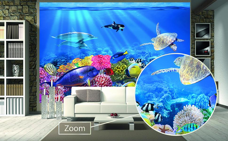 Details about  /3D Sea Wood Bridge Boat 3492 Wallpaper Decal Decor Home Kids Nursery Mural Home