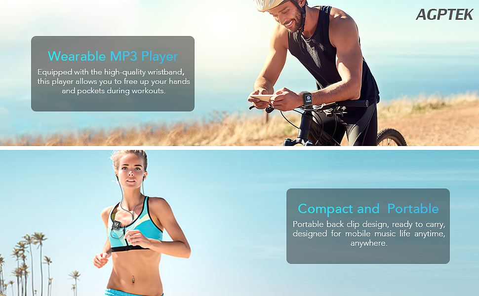 Clip MP3 Player with Bluetooth