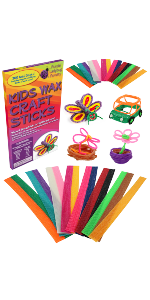 wax craft stix, wax sticks, art kit, wax art kit, gift for kids, arts and crafts, wax art