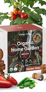 organic garden salsa kit san marzano tomato cherry tomato jalapeno cilantro green onion seeds