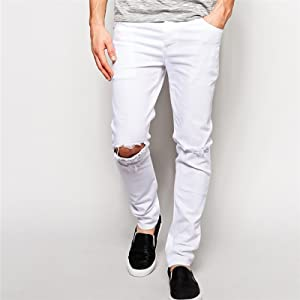 White Knee Distressed Jeans