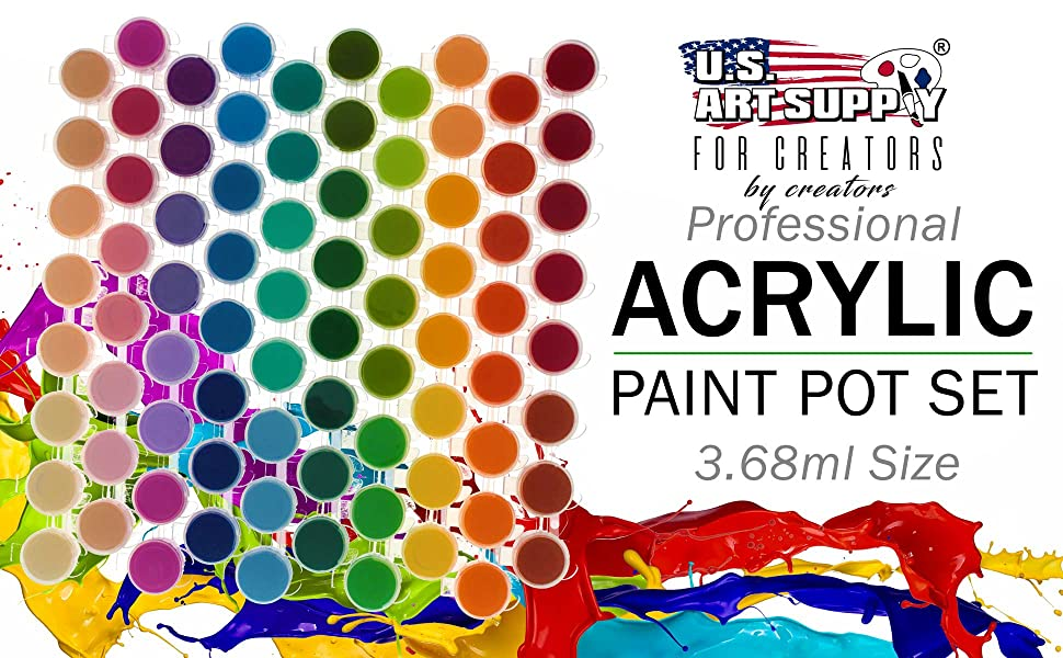 U.S. Art Supply Professiional Acrylic Paint Pot Set
