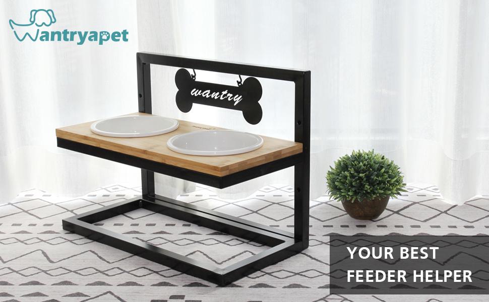 Your best feeder helper dog pet elevated bowls