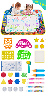Obuby Water Magic Drawing Mat Kids 47x35 Inches Doodle Gifts Color Draw Board No Mess Coloring