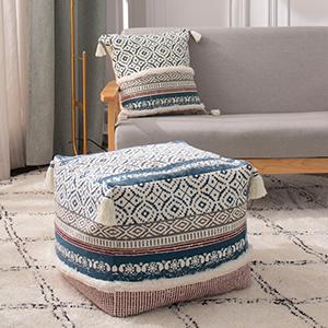 unstuffed pouf bohemian foot rest ottoman poof foot rest poufs for living room cotton pouf