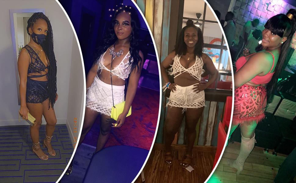 ECHOINE Womens Sparkle 2 Piece Outfits