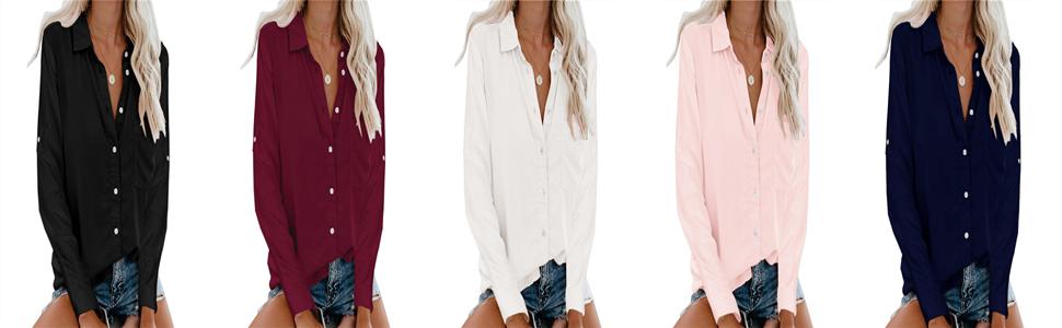 button up shirt women