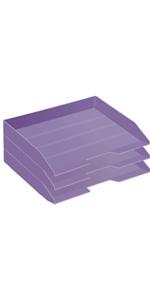 Acrimet Stackable Letter Trau Side Load Solid Purple