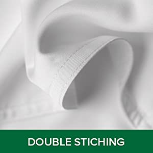 Durable double stitching of Pure Bamboo sheets protects against fraying at the seams