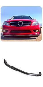 Benz W204 C Class C250 C300 C350 Sport Carbon Fiber Front Chin Spoiler Lip Air Dam Protector