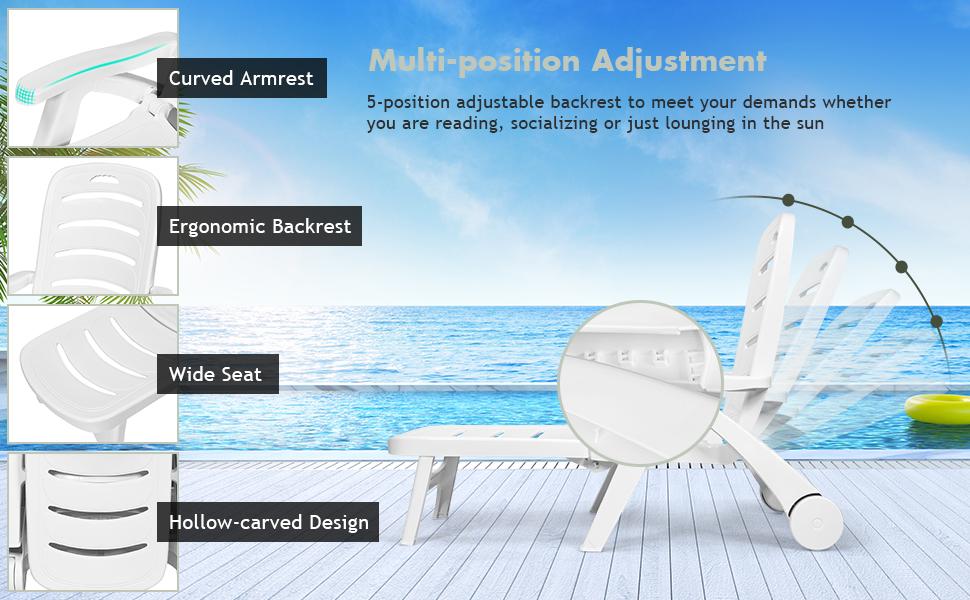 Folding Lounger Chaise Chair