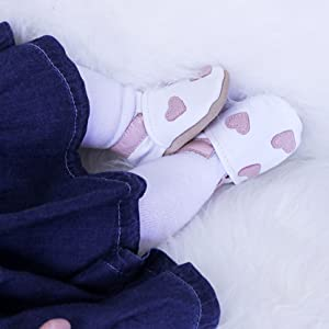 Dotty Fish Soft leather Baby Shoes, baby girl, leather booties, baby booties, leather slippers, girl