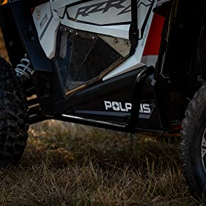 SuperATV Heavy Duty Nerf Bars//Rock Sliders//Tree Kickers for Polaris RZR 900 XC 900 S 900 2015+ Orange