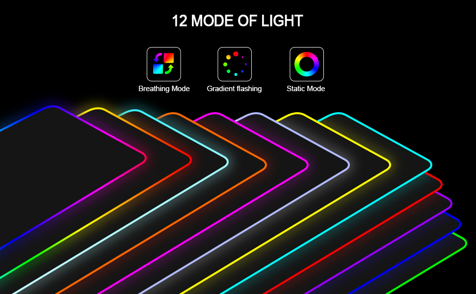 Mouse Pad - 12 modes of light