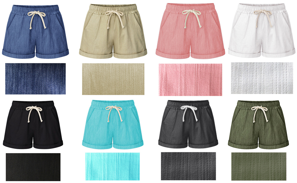 Mid/High-rise elastic waistband for stretchy fit, side pockets, Adjustable waist drawstring