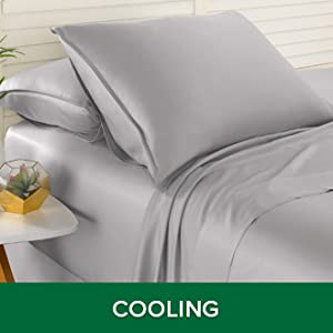 Soft and cooling bamboo bed sheets