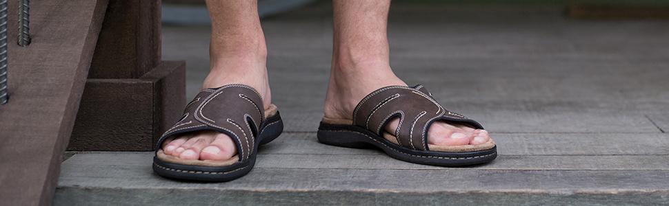 Sandles flip flop sandal gladiator leather memory foam slide sandle sport fisherman comfort