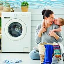 mother washing machine cleaner family