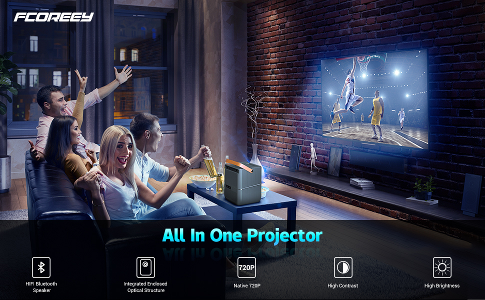 Fcoreey all in one projector