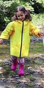 girls lined rain coat