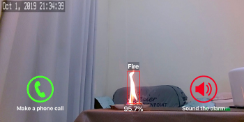 fire snapshot spot potential fire home security