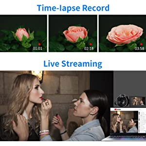Time lapse Record / Live Streaming