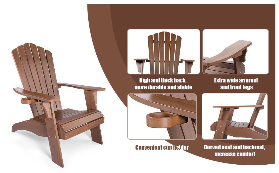brown adirondack chair