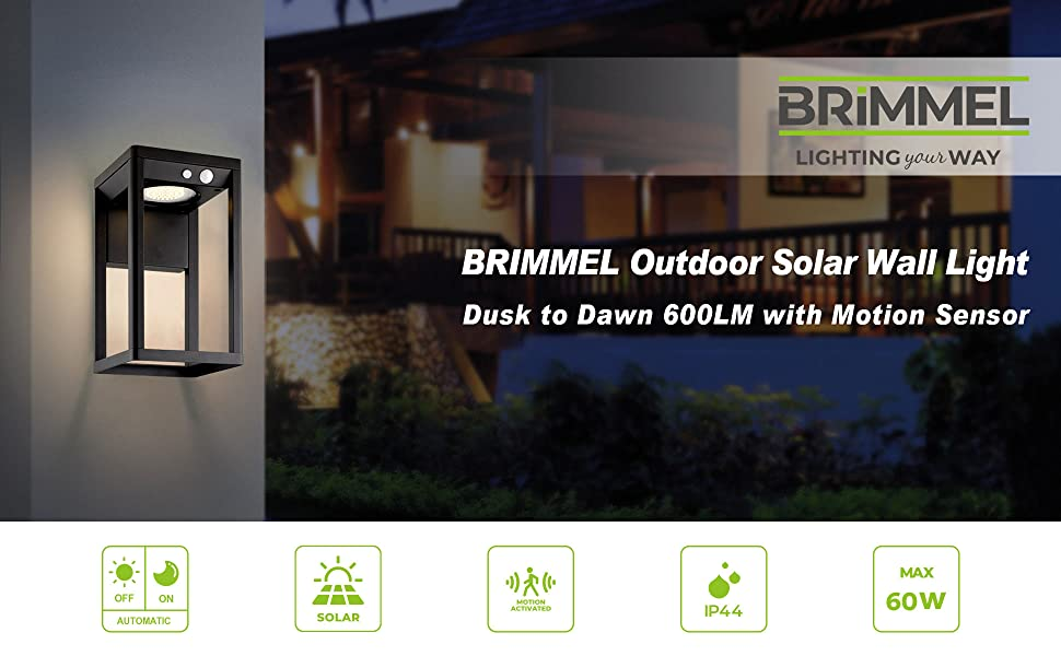 SG601033 80cm BRIMMEL Outdoor Garden Light Solar Post Lamp 600LUM Bollard Light with Motion Sensor IP44 Waterproof 8H Endurance Wireless Aluminum Landscape Light 3-Light-Mode Black