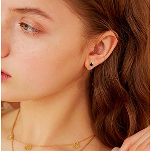 black stud earring