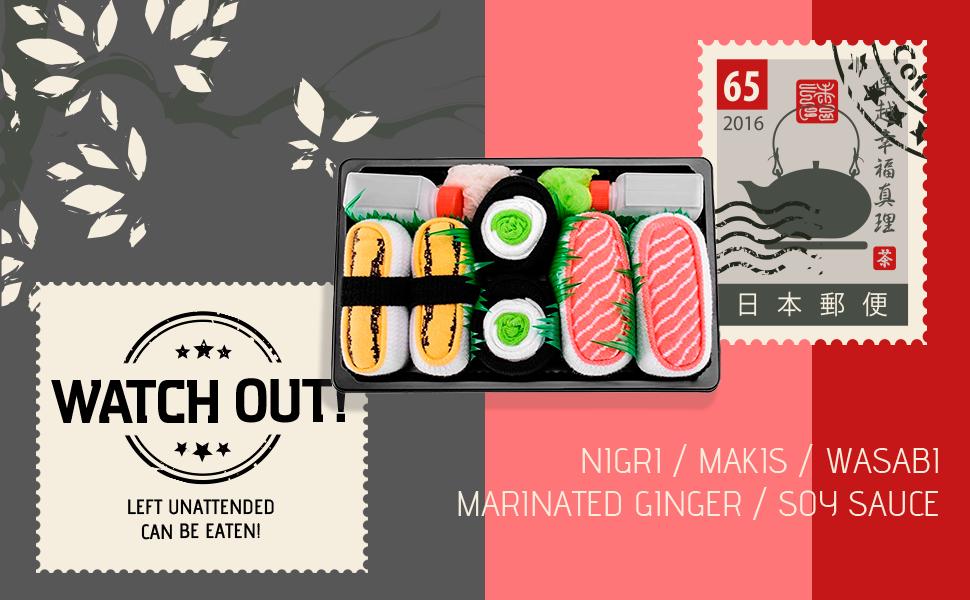 Nigiri / Makis /Wasabi / Marinated Ginger / Soy Sauce