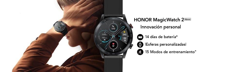 Honor Magic Watch 2 Smartwatch 46mm, Monitor de Frecuencia Cardíaca