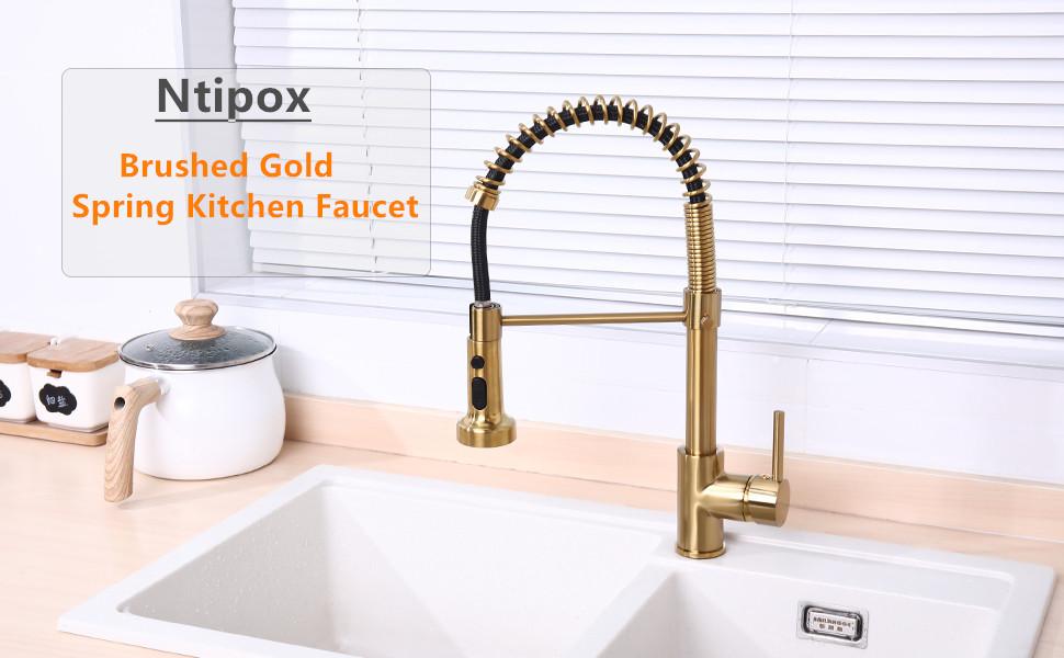 kitchen sink faucet gold