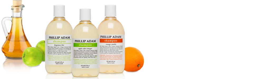 Apple cider vinegar shampoos, phillip adam