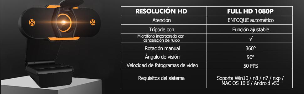 camara para laptop  (2021 Nuevo modelo)Cheelom Video Cámara Web1080P Trípode Full HD USB,Webcam de Conferencia USB Ajustable con Micrófono Incoprado Computadora Portátil Cámara para OBS Xbox XSplit Skype Facebook Compatible con Mac OS Windows 10/8/7 390154a7 132b 4795 ac7a 4ce560178d11