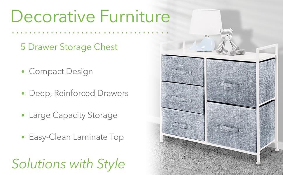 Decorative Furniture 5 Drawer Storage Chest